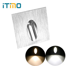 iTimo3W Square Wall Lamps for Stairs Corridor Foyer Wall Corner Lights LED Footlight Spot Light Recessed Pathway Bulb(China)
