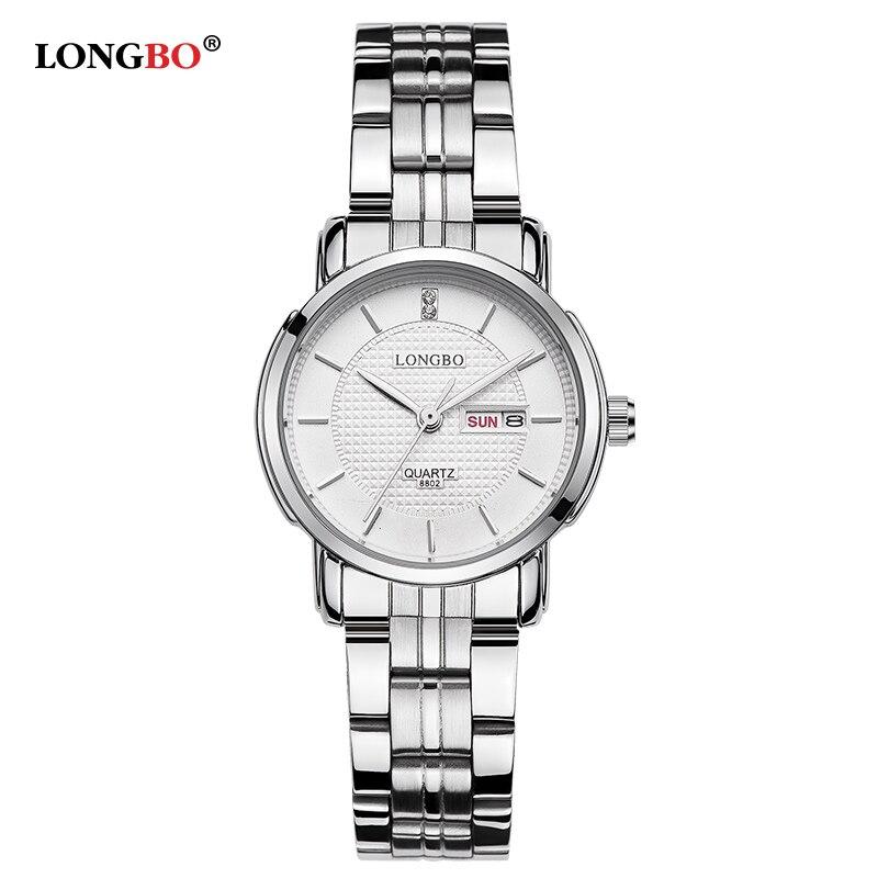 2017 LONGBO dress quartz watch women stainless steel brand watches luxury business clock ladies fashion relogio feminino 8802W<br><br>Aliexpress