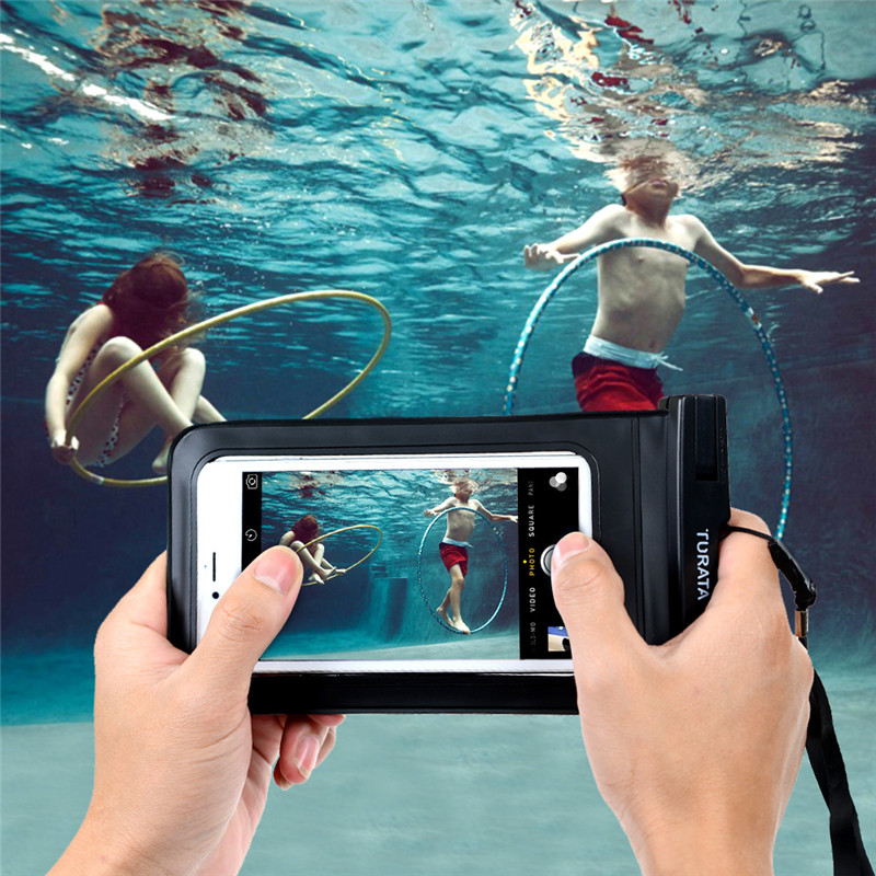 Turata Waterproof Phone Bag Case Cover For iPhone 4S 5 5S 6 6S 7 Plus For Samsung Galaxy S5 S6 S7 S8 Edge For Huawei P8 P9 Lite(China (Mainland))