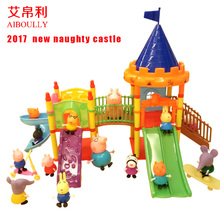 Aiboully toys Series of Amusement park Toys PVC Action Figures Family Membe peppaed george pig Toy Baby Kid Birthday Gift