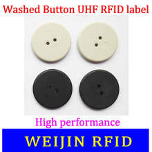 VIKITEK Washed button tag 860-960MHZ UHF RFID Alien Higgs3 chip PPS material can be washed