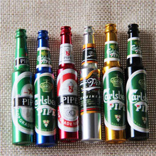Mini Beer Smoke Metal Pipes Portable Creative Smoking Pipe Herb Tobacco Pipes Gifts narguile Weed Grinder Smoke 6 colors Pipes(China)