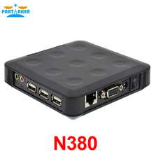 3 USB ports ARM11 800MHz 128M RAM 128M Flash N380 WIN.CE 6.0 thin clients support turn one into 100 users or more black color(China)