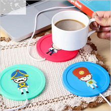 Cartoon Creative Silicone Electric Insulation Coaster USB Warm Cup Heating Device Office Coffee Tea Warmer Pad Mat EJ881205