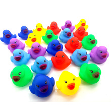 12pcs/lot Float Water Swimming Child's Play Mouth Mini Small Colourful Rubber Duck Educational for Children Baby Bath Toys
