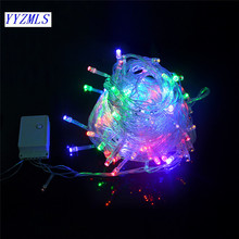 Led string light 10M 100led AC220V colorful holiday led lighting waterproof outdoor decoration light christmas light(China)