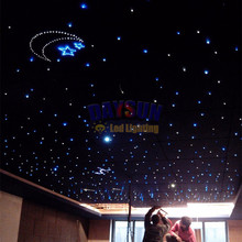 New DIY Twinkle Star Ceiling Lamp RGBW CREE LED Ceiling Lights 16W Light Engine + 300pcs 0.75mm 2m End Glow Fiber Cable