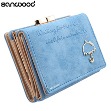 Women Umbrella Faux Leather Clutch Trifold Wallet Credit Card Holder Retail/Wholesale 73PO(China)