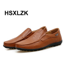 Fashion Design Shoes High Quality Genuine Leather Men Shoes Soft Moccasins Loafers Fashion Brand Men Flats Casual Driving Shoes
