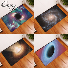 Homing Dust Proof Light Modern Kitchen Rugs Colorful Grand Universe Black Hole Carpets Soft Water Absorption Bedroom Foot Pads