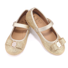 Girls shoes spring and autumn gold silver black light children's shoes non-slip ballet flats leather kids shoes(China)