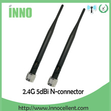 5pcs/lot 2.4GHz 5dBi Omni WIFI Antenna N male for Wireless Router 45cm wifi antenna connector