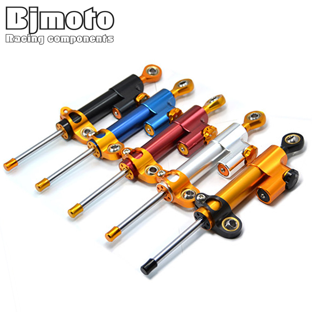 BJMOTO For Yamaha R3 R35 MT07 MT09 YZF R1 R6 CNC Damper Steering Stabilizer Linear Reversed Safety Control<br>