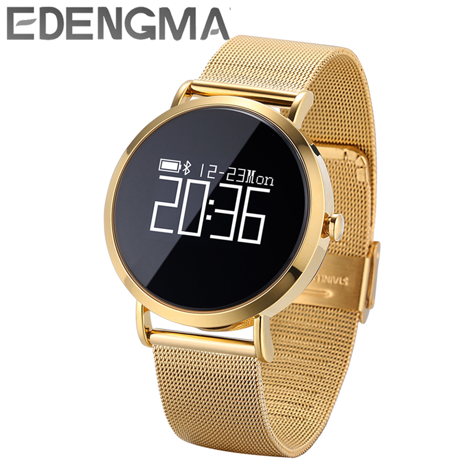 EDENGMA smart bracelet CV08 fashion sports pedometer calories heart rate blood pressure Bluetooth 4.0 remote photo wristband