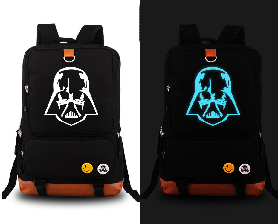 Star Wars Backpack anime Fashion Canvas Student Luminous Schoolbag Unisex Travel Bags packsack<br>