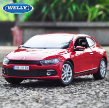 New Diecast Model 1:24 VW Scirocco Alloy Car Model Toy Vehicle Car Model Alloy Model Toys gift Toy cars Kid Cars Original Box