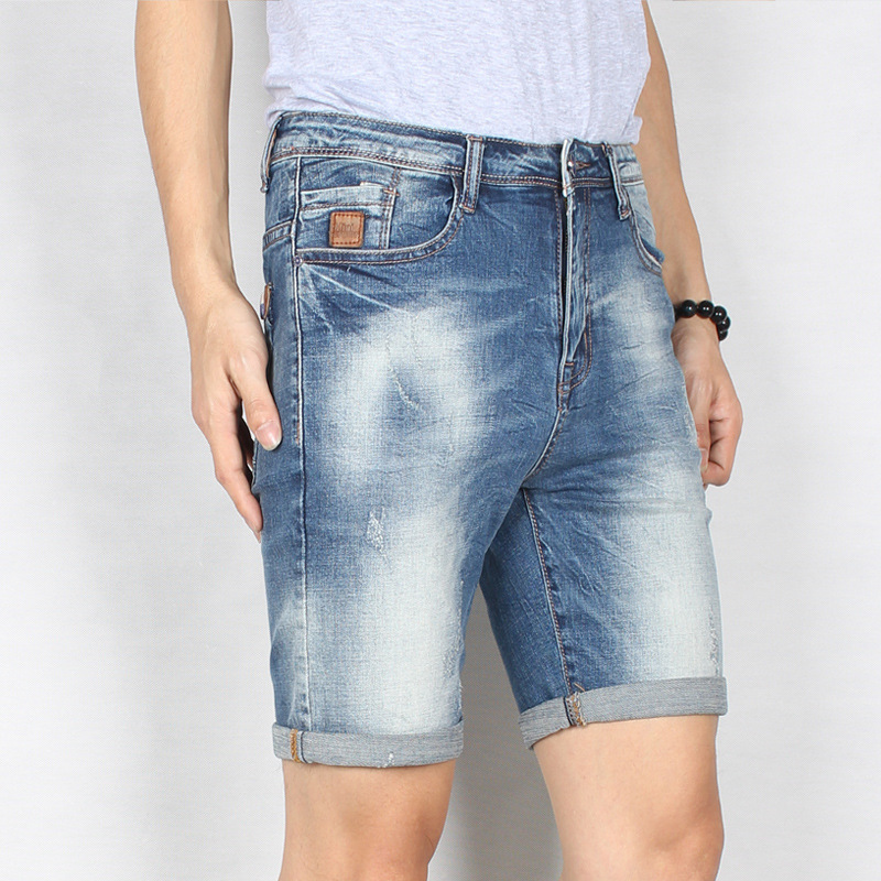 2017 summer new style mens short jeans pants casual trousers cotton pants light blue denim jeanÎäåæäà è àêñåññóàðû<br><br>