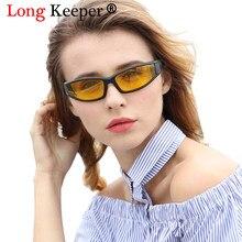Mulheres de longo Goleiro Homens de Visão Noturna Óculos Polarizados Legal  Quadrado Condução Eyewears gafas de sol Gradiente Mas. ec892d8ada