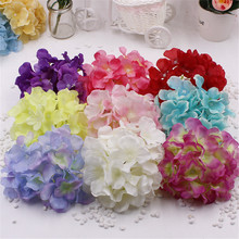Free Shipping Big Silk Artificial Hydrangea Flower For Wedding Valentine's Day Living Room Decoration Bouquet Rosa Flower