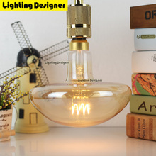 big size Mushroom edison bulb led light amber retro saving lamp vintage bulb Edison ampul lamp E27 led lighting amber 220V 4W(China)