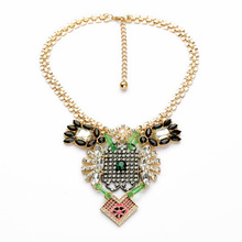 Factory Wholesale Party Display Stand All-match Alloy Punk Large Statement Necklace Pendant(China)