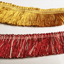 2 Colors Gold Wine Fringe 4 cm Width Lace Cushion Cover Pillow Cover Throw Accesories Polyester Trimming Sell by 10 meters/Bale(China)