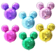 1pcs/lot Blue Pink Gold Red Mickey balloon minnie head globos shaped inflatable helium baloes for birthday party supplies baloes