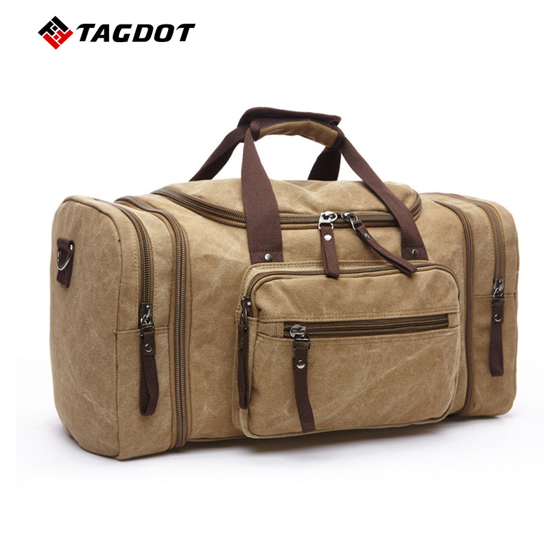 2017 New Travel Bag Large Capacity Men Hand Luggage Travel Duffle Bags Canvas Weekend Bags Multifunctional male Ms. Travel Bags<br>