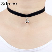 Buy Red Velvet Bells Choker Necklace Fashion Black Velvet Ribbon Bells Pendant Chokers Necklaces Women Girl Neck Band Jewelry CN16 for $1.00 in AliExpress store