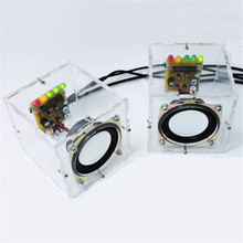 LEORY New Stylish Mini Individuality DIY Speakers Computer Small Transparent Speaker DIY Production