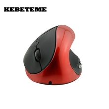 KEBETEME Hot Sale Optical Wireless Mouse Healthy Ergonomic Mouse 6 Buttons With DPI Switch Vertical Mouse For Computer PC laptop(China)