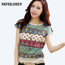 Refeeldeer T Shirt Women 2017 Summer Fashion Short Sleeve T-shirt Women Plus Size 4XL t-shirt Female Tops Tee Shirt Femme tshirt(China)
