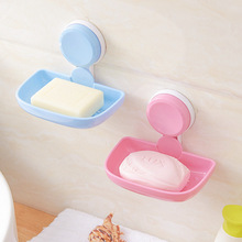 New Kitchen Tools Bathroom Accessories Soap Holder Two Layer Suction Holder Soap Dish Storage Basket Soap Box Stand -25