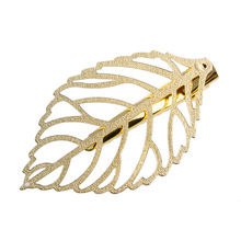 1Pc Fashion Hollow-Out Metal Leaf Hair Clip Gold Hairpins Women Hair Accessories