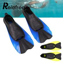 Relefree A Pair Swimming Fins Snorkeling Flipper Diving Fins Swimming Equipment XS/S/M/L(China)