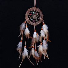 Cheap  Home decor Rattan Dream Catcher with Feathers Rome Wall Hanging Decoration Ornament Brand Dreamcatcher