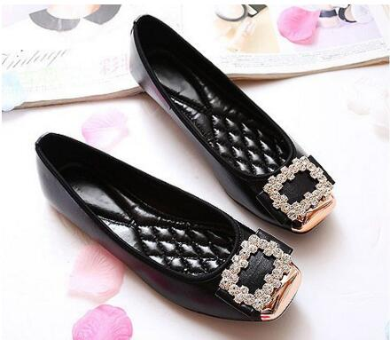 2015 New Elegant Square Rhinestone Shoes Women Flats  Shoes Woman Boat Shoes Casual Ladies Shoes 11 10 Plus Size 42<br><br>Aliexpress
