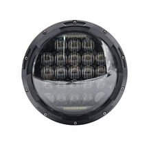 Harley motorcycles led headlights replacement, 7 inch 75W 5D motorcycle headlamps (DOT, SAE , E9)
