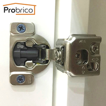 Probrico Wholesale 100 PCS Soft Close Kitchen Cabinet Hinge CHM36H1-1-4 Concealed Face Frame Insert Overlay Cupboard Door Hinge