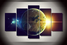 5 Pieces/set HD Printed planet oceans two light star Painting children's room decor print poster picture canvas painting