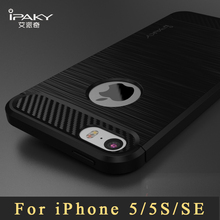Original ipaky coque For iPhone 5s case Luxury Brushed TPU case For iPhone SE case silicone Back Cover For iphone 5 se 5se cases(China)