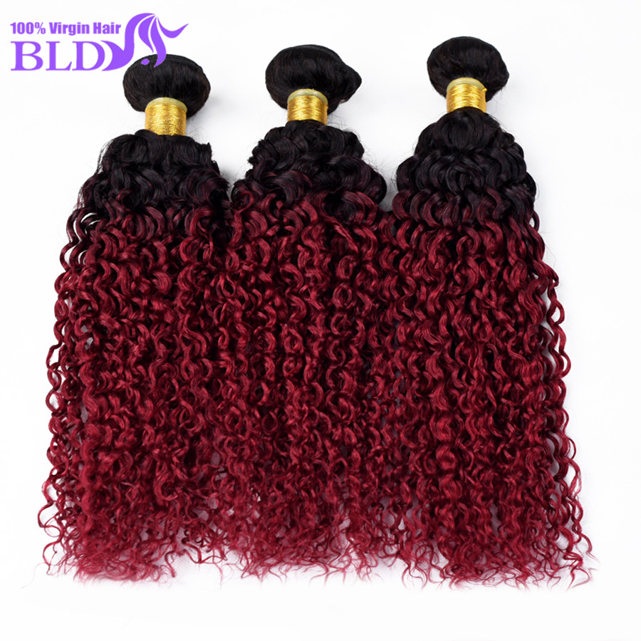 Top Selling #1b/bg Good Hair Peruvian Ombre Curly Hair Extensions Two Tone Ombre Weave 3pcs Peruvian Wet and Wavy Cheap Hair<br><br>Aliexpress