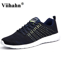Viihahn Men's Running Shoes Summer 2017 Outdoor Breathable Women Sneakers Walking Sport Textile Shoes(China)