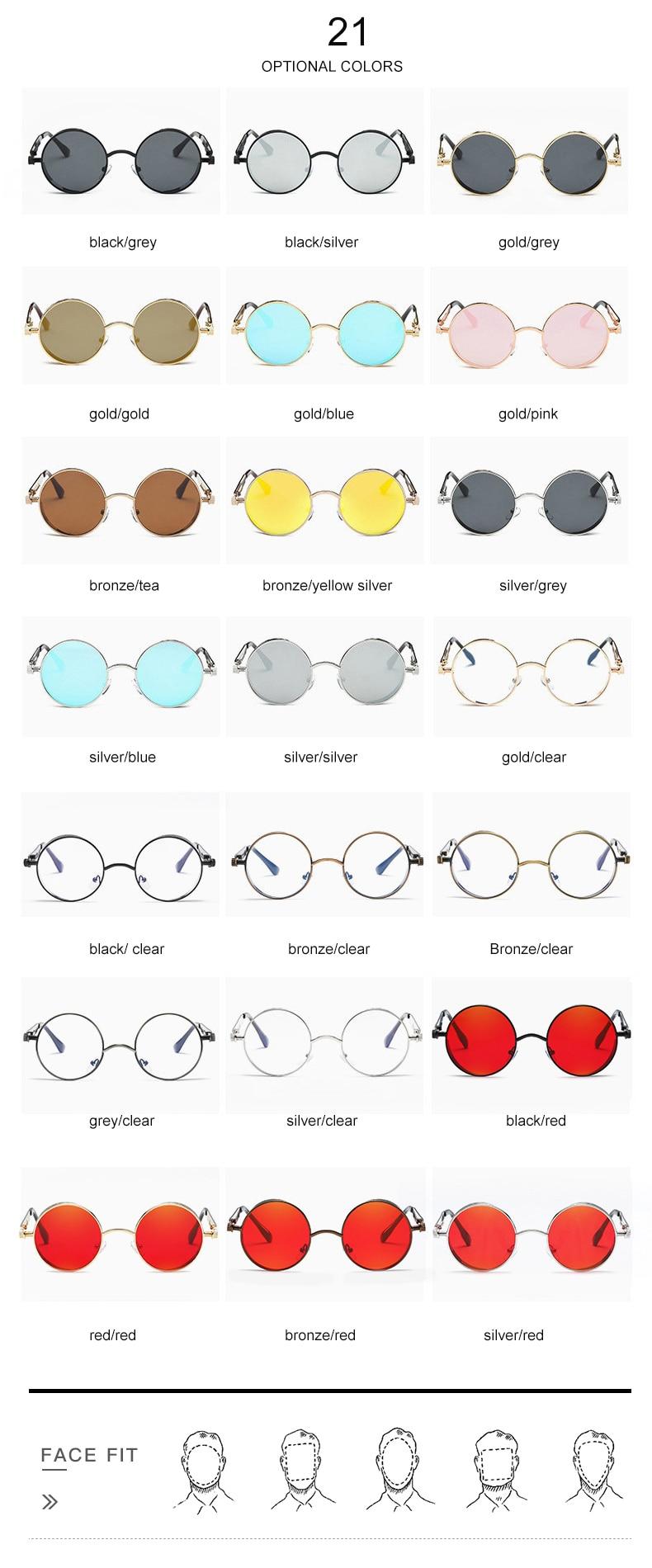 STEAMPUNK - Dapper Round Metal Sunglasses for Men | Dukesman.com