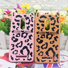 Cute 3D Silicone Phone Case For Xiaomi Redmi Note 4 note 4x Sexy Leopard Skins Beard Cat Case For Xiaomi Hong pro Note 3 Case(China)