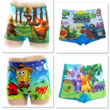 Hot Sale Children Swimsuits Swim Short Pants Free Shipping Cartoon Boy's Trunks swimwear plants zombies