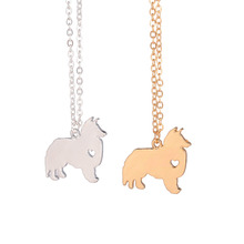 Gold & silver 1pc Sheltie Necklace Choose Any Dog Breed Pet Necklace Gold Fill Charm Dogs Name Pet Lover Gift for lovers(China)