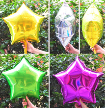 HOT 10inch Five-Point Star balloons Promotion Toy For Wedding Birthday Party Inflatable Ballons Aluminum Foil Balloon 10pcs/lot(China)