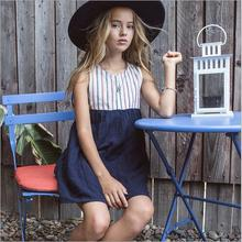 7-14y teenage girls clothing national style girls dress european high-quality goods childrens clothes high-grade princess dress