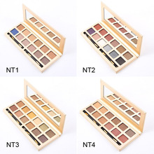12 Colors 4 Styles Waterproof Makeup Eyeshadow Palette Eye Shadow Natural Shimmer Makeup Nude Matte Eyeshadow Powder Palette(China)